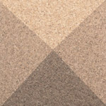 Pyramid Pearl 3d cork wall tile