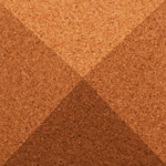 Pyramid Terracotta 3d cork wall tile