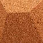 Ramp Terracotta 3d cork wall tile