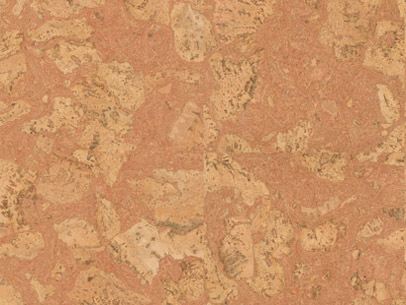 Twist Red Cork Tile Natural